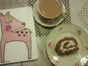 """Kirjoita muistiin asiat kahvihetkellä tai piirrä jotain kivaa. Muistikirja """"Bambi"""""""
