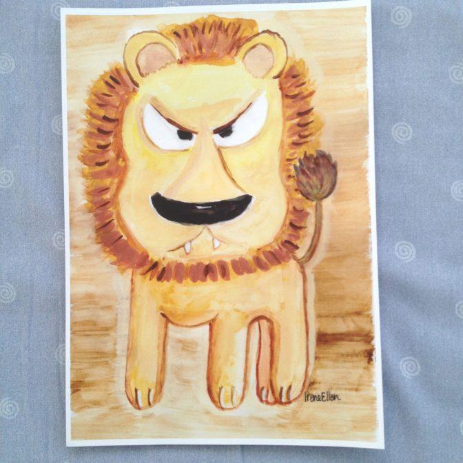 Juliste A4 leijona