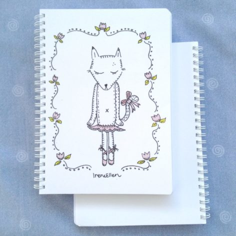 Muistikirja Ballerina kissa