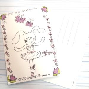 Postikortti Pupun baletti