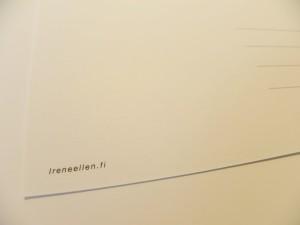 IreneEllen.fi Postikortti takaa