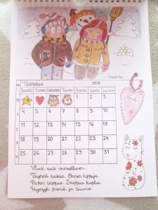 IreneEllen kalenteri tammikuu