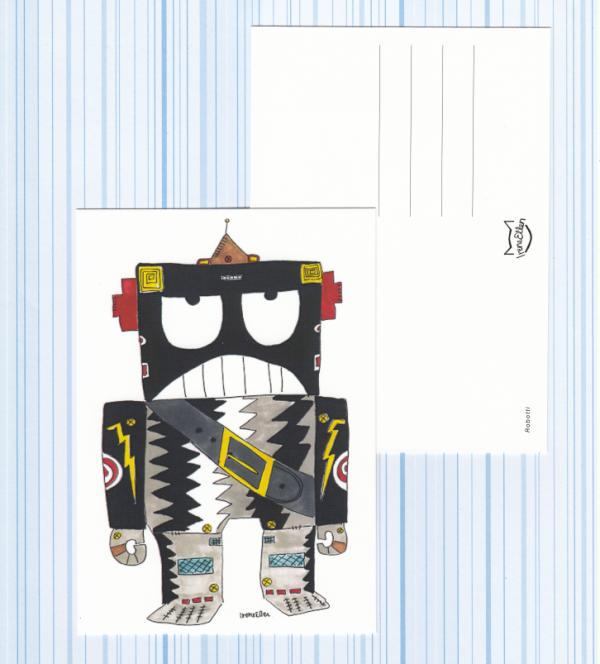 Robotti-postikortti