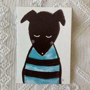 Koiruli koiranen postikortti