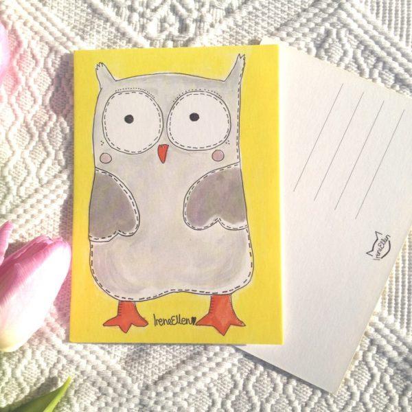 pöllö postikortti