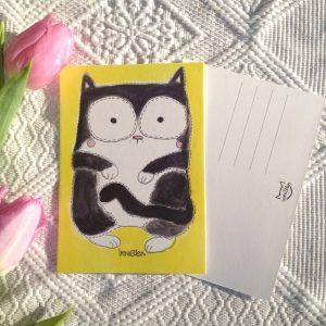 Kissa postikortti