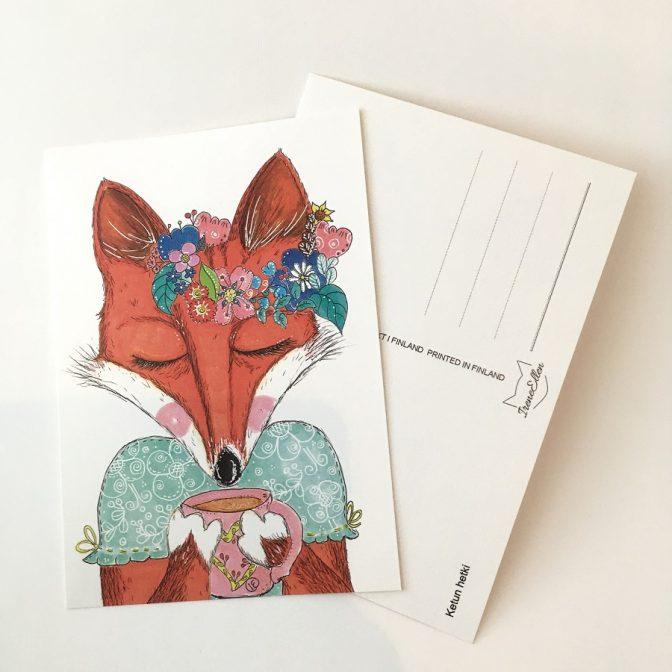 postikortti Ketun hetki