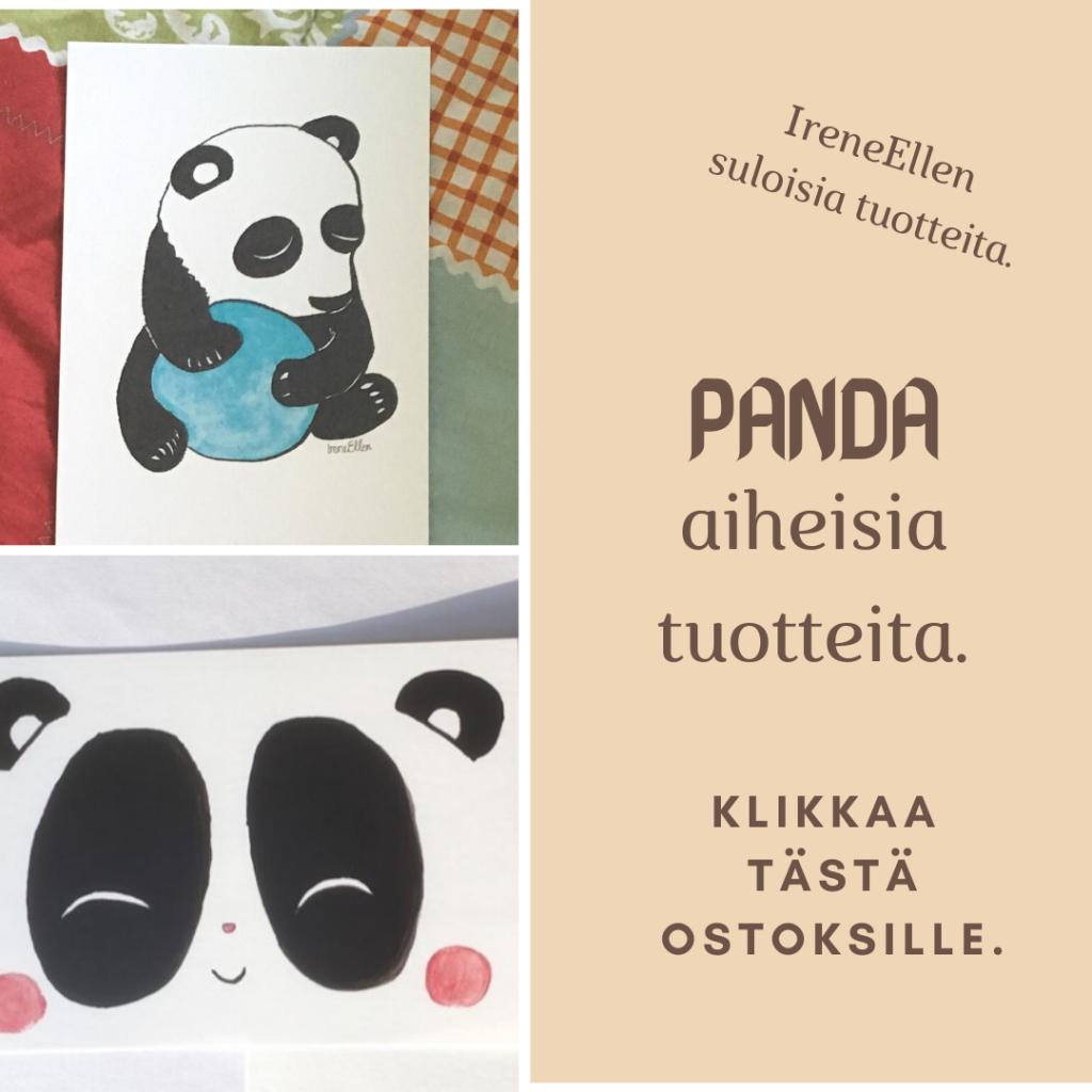 Panda aiheisia tuotteita