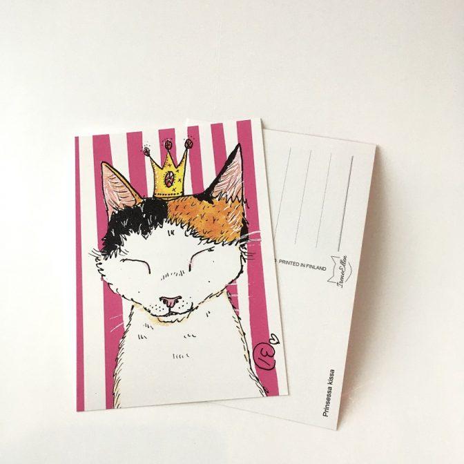 postikortti Prinsessa kissa
