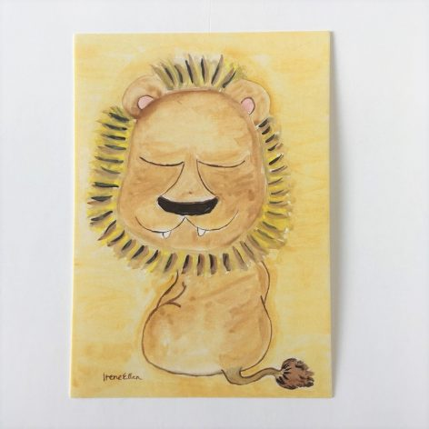 Postikortti -Iloinen leijona