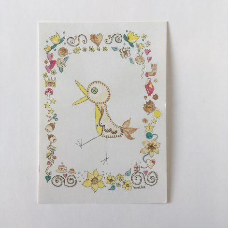 Lintu ja pieniä asioita postikortti
