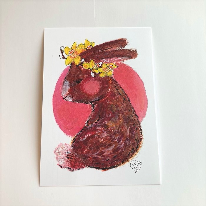 Postikortti Ihana pääsiäispupu