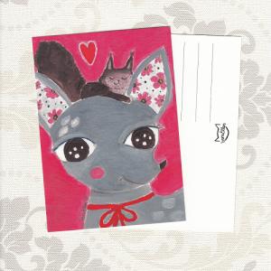 Bambi ja orava postikortti