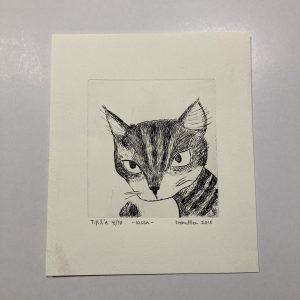 """Grafiikka """"Kissa"""" 4/10"""