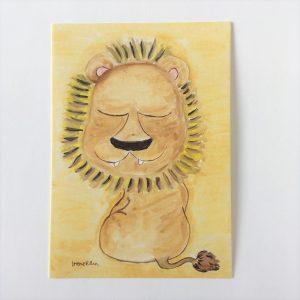 """Postikortti """"Iloinen leijona"""""""