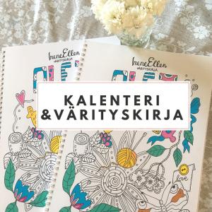 Kalenteri ja värityskirja