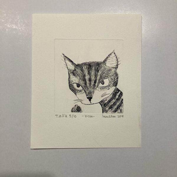 """Grafiikka """"Kissa"""" 5/10"""