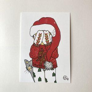 Joulukortti -Kukkuu