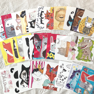 Suloiset eläimet postikorttisetti