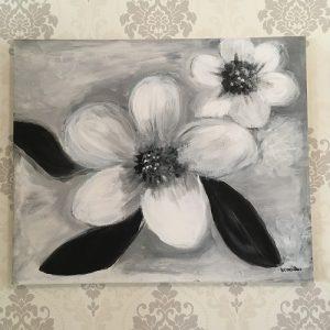 """Maalaus """"Valkoiset kukat"""""""